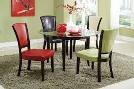 dining room khaki tone: amazing expandle glass dining table and color modern