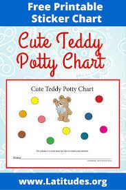 potty training chart cute teddy acn latitudes cute teddy potty chart