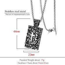 <b>ZFVB Religious Cross</b> Pendant Necklaces for Mens High Polish ...