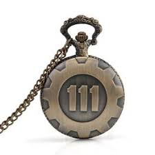 bronze pocket watch fallout 4 vault 111 electronic games necklace chain pendant