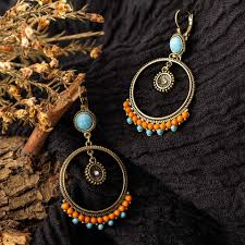 <b>2019</b> Fashion earrings <b>boho vintage ethnic</b> Geometric dangle drop ...