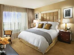 oak bedroom furniture home design gallery: bedroom wonderful home interior bedroom design ideas with exclusive cream leather framed white wooden high headboard and classic style teak finished
