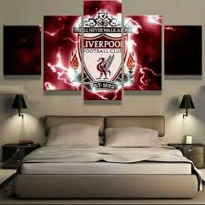 <b>5 Pieces</b> Hd <b>painting</b> liverpool logo <b>Pictures painting</b> for living room ...