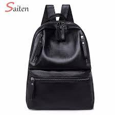 PU Leather <b>Women's Backpacks</b> Large Capacity <b>Bag</b> For Teenager ...