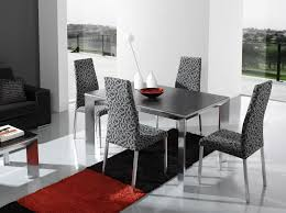 Contemporary Black Dining Room Sets Interior Designs Sleek Contemporary Dining Set Idea With Glossy