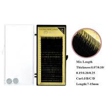 Dollylash Individual Eyelash Extension Mix Length 7mm-15mm ...