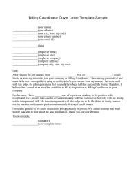 Medical Billing Cover Letter Sample Medical Billing Cover Letter