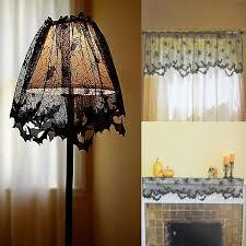 1PC <b>Halloween Lace Bat</b> Spiderweb Lamp Shade Topper Curtains ...