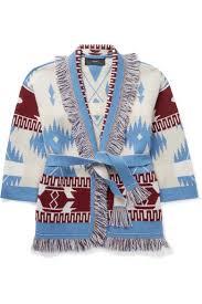 Alanui Kids | <b>Ages</b> 4 - 12 belted fringed cashmere-jacquard <b>cardigan</b> ...