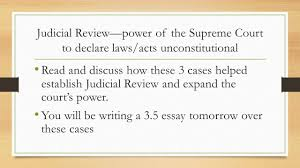 the marshall court john marshall john marshall  judicial review power of the supreme court to declare laws acts unconstitutional and