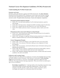 national career development guidelines ncdg framework