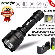 z20 2017 5 mode zoomable xml l2 5000lm t6 3800lumens led flashlight torch tactical light for aaa or 18650 rechargeable battery