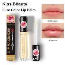 Kiss Beauty <b>transparent pure color</b> Lip Balm plumping lip maximizer ...