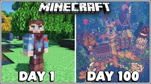 I Played 100 Days in Minecraft and Built <b>a lot of Cool</b> Stuff!!! - YouTube