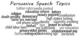 the good list of persuasive speech topics   write a writing