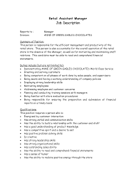 assistant job description for  seangarrette co   operations supervisor warehouse job description sample   assistant job description