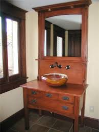 arts crafts bathroom vanity: