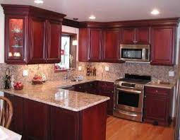 kitchen cabinets with granite countertops: steel grey granite countertops and backsplash with cherry cabinets best granite for cherry cabinets