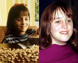 Next Mara Wilson was a huge star as a child. The now 25-year-old appeared in Mrs Doubtfire in 1993, Miracle on 34th Street in 1994 and Matilda in '96. - mara-wilson-now-then