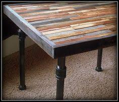 cool black pipe table black iron pipe table