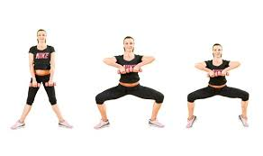 Image result for woman plie dumbbell squat workout