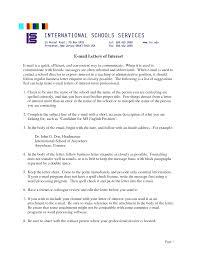 letter of interest for teacher position letter of interest for letter of interest for teaching letter of interest teaching position