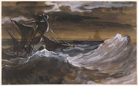 <b>Sailboat</b> on a Raging Sea - Théodore Géricault — Google Arts ...