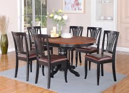 black kitchen dining sets:  marvellous design black kitchen table sets dinette kitchen dining set oval table  leather seat chairs