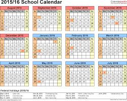 school calendars as printable word templates template 4 school calendar 2015 16 for word landscape orientation year at