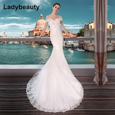 Ladybeauty New 2018 <b>Sexy Mermaid Wedding Dresses</b> Boat Neck ...
