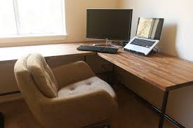 desks custom desk and butcher blocks on pinterest awesome home office ideas ikea 3