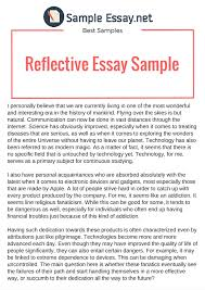 Write Reflection Essay Reflective