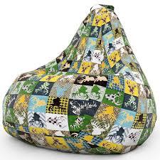 <b>Кресло Мешок</b> Груша с <b>Оленями DreamBag</b> 2XL Разноцветный ...