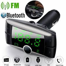 auto mp3 speler fm zender bluetooth handsfree car kit audio lader display quick charge dual usb lader