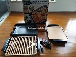 Portable and <b>Nonstick</b> Copper Coated Smokeless <b>Electric Indoor</b> ...