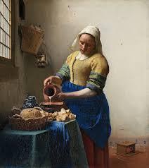 La lechera (Het melkmeisje), Johannes Vermeer