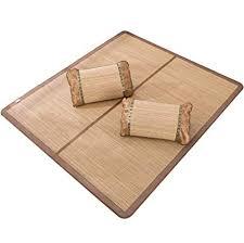 CQLCHD Carbonized wood <b>grain</b> double-sided folding <b>bamboo</b> mat ...