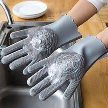 <b>Silicone cleaning gloves</b> kitchen oil-free decontamination ...