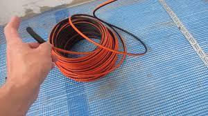 Монтаж и проверка <b>нагревательного кабеля</b> перед заливкой ...
