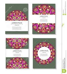 set templates business cards and invitations circular set templates business cards and invitations circular patterns of mandalas