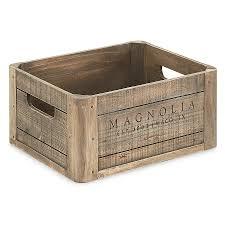<b>Magnolia Home</b> Wood Crate–Weathered pine meets rustic charm ...