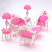 6pcs dollhouse furniture living room parlour sofa chair set toys for barbie doll barbie dollhouse furniture sets