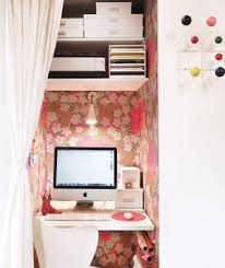 cute home office ideas tiny home office ina a small closet with white chair and awesome home office ideas small