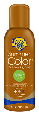 Banana Boat <b>Summer Color</b> Body Self-Tanner Mist, Airbrush Color ...