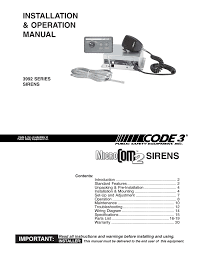 code 3 microcom 2 siren user manual 20 pages Siren Wiring Diagram Siren Wiring Diagram #69 siren wiring diagram for the 2008 harley