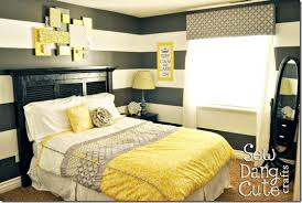 yellow and gray bedroom: