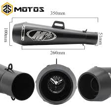 <b>ZS MOTOS 51mm</b> Universal Motorcycle Exhaust M4 Yoshimura ...