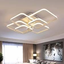 Touch Remote Dimming <b>Modern</b> plafon <b>LED Ceiling Lamp</b> Fixture ...