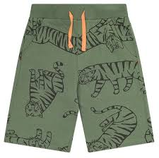 Купить <b>Шорты crockid</b> размер 116, бронзово-зеленый, тигры ...