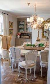 dining room set green country french